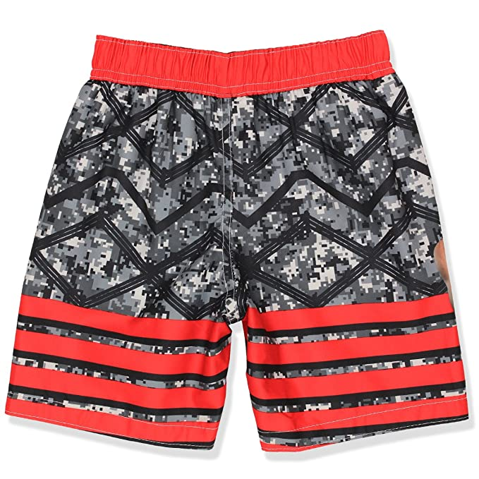 a2d51fbfaa52c Amazon.com: WWE Boys Swim Trunks Swimwear (4, Black/Red): Clothing