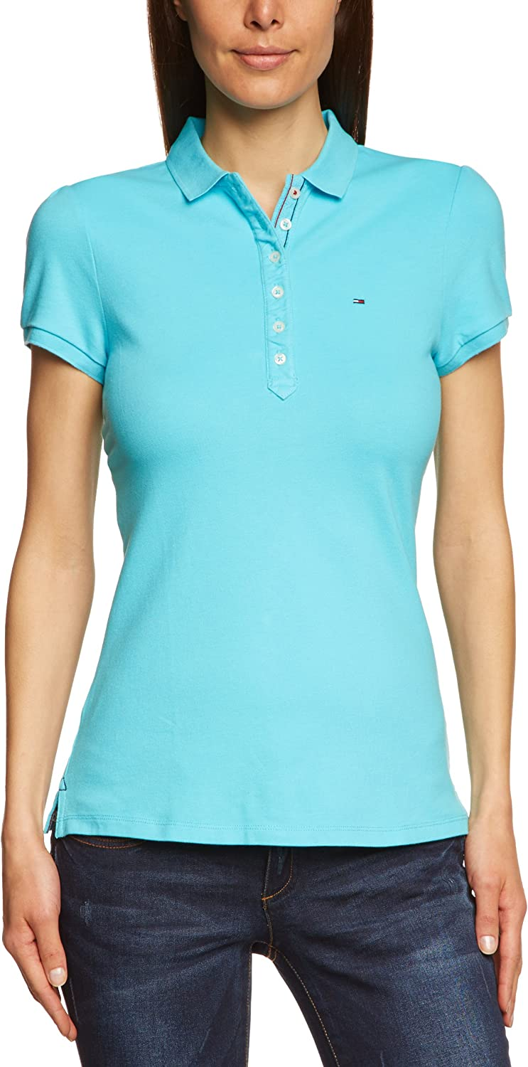 Tommy Hilfiger Laura Polo, Turquesa (Peacock Blue 435), 40 para ...