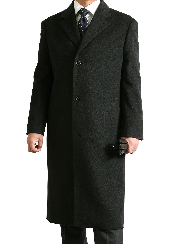 ビジネス & フォーマル メンズ シングル チェスター ロングコート 【 カシミヤ ブレンド 】 B0775N2ZPT L チャコールグレー チャコールグレー L