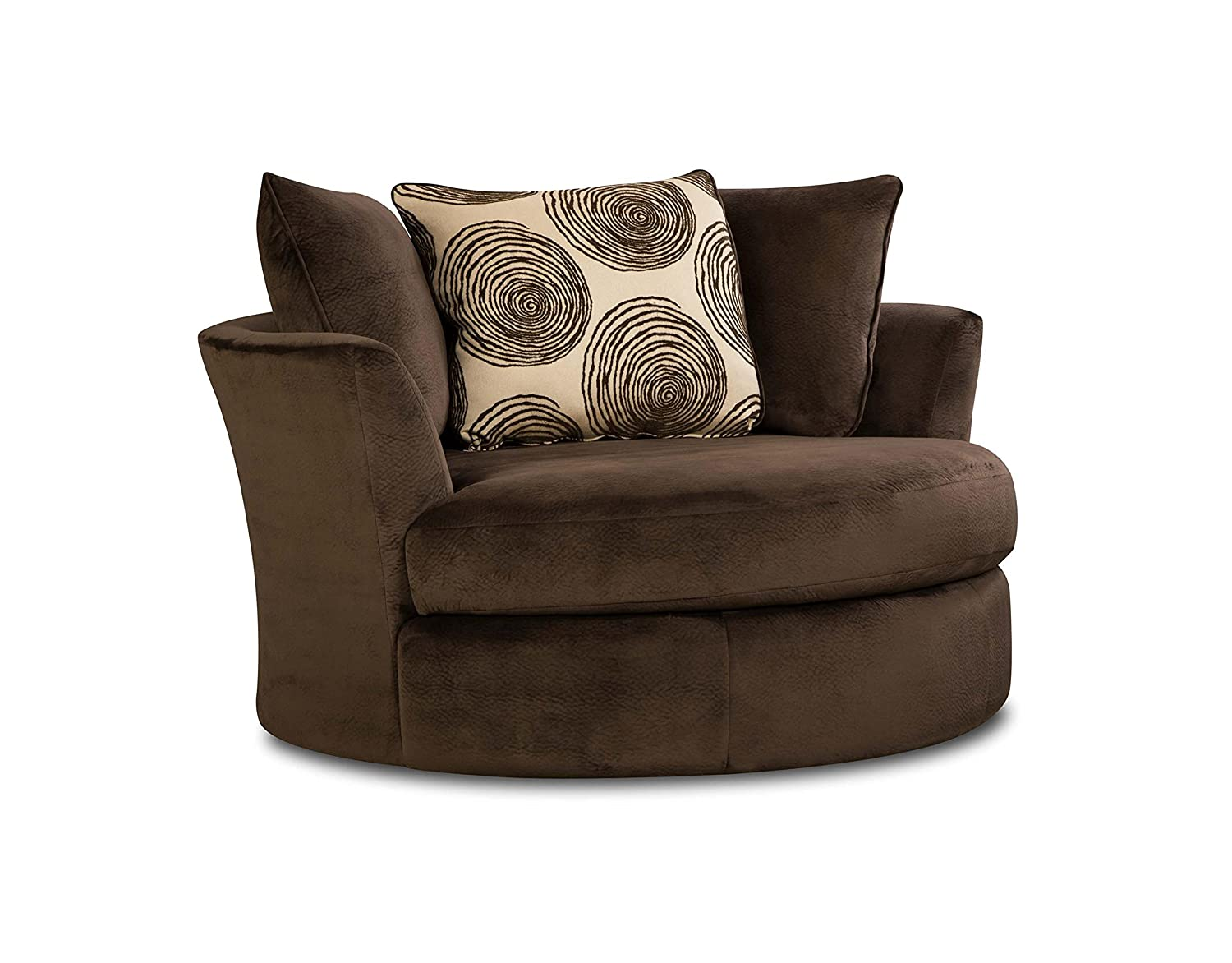 Amazon.com: Chelsea Home Furniture Rayna Swivel Chair, Groovy Chocolate/Big  Swirl Chocolate: Kitchen U0026 Dining