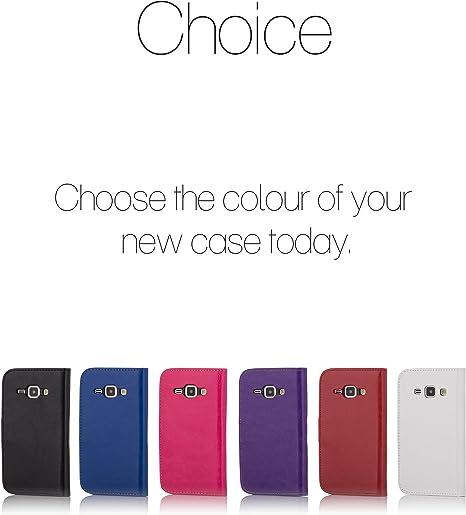 Coque pour Samsung Galaxy J1 (2016) sm-j120 Téléphone portable par 32 nd® livre/portefeuille à rabat en PU imitation cuir///uni/motif/Design/étui