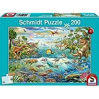 Schmidt Spiele- Descubre los Dinosaurios 200 Piezas Puzzle Infantil, Color mar. (SCH56253)