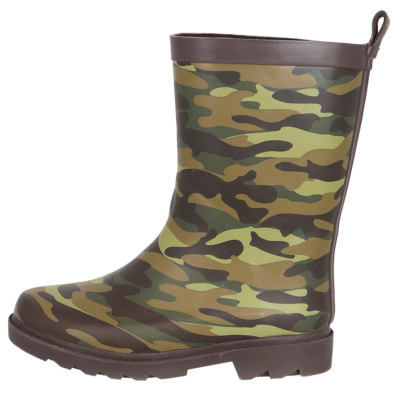 Capelli New York Boys Matte Cool Camo Printed Sporty Rain Boot