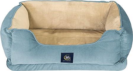 Amazon Com Serta Ortho Cuddler Pet Bed Blue Pet Supplies