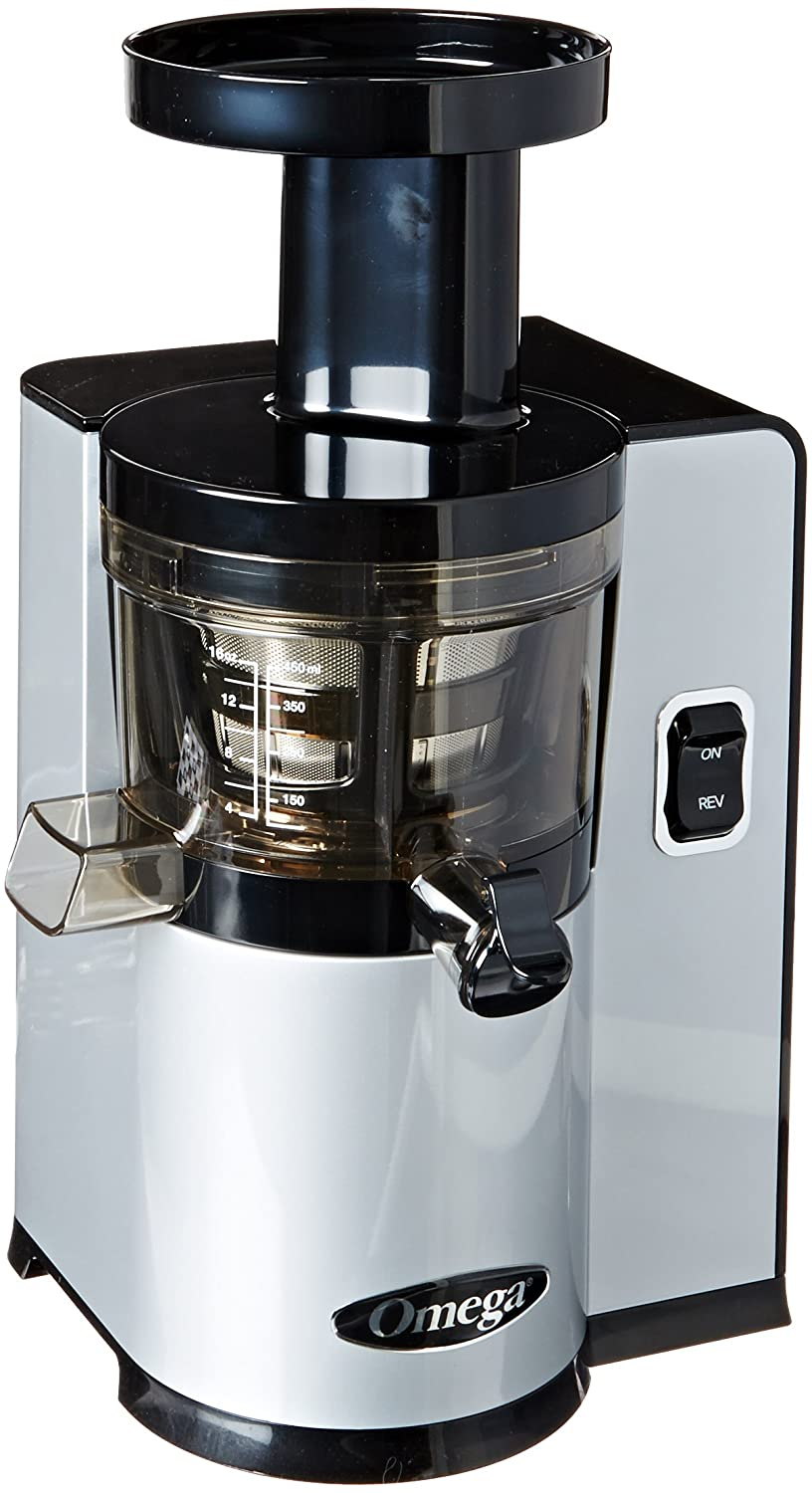 Omega VERT Slow Juicer VSJ843QS, Square Version, Silver