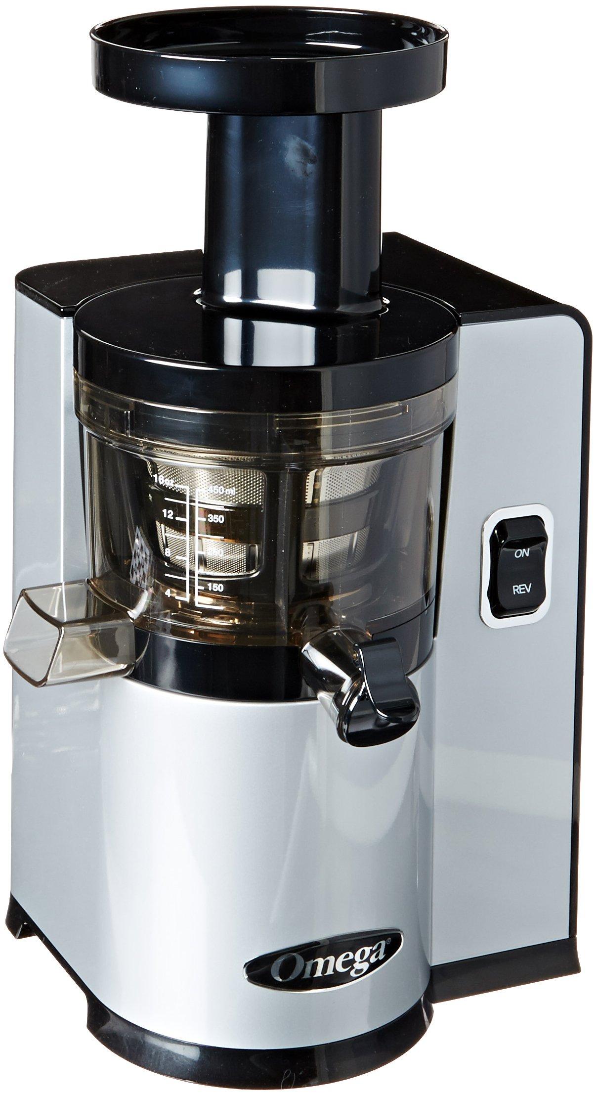 Omega VERT Slow Juicer VSJ843QS, Square Version, Silver