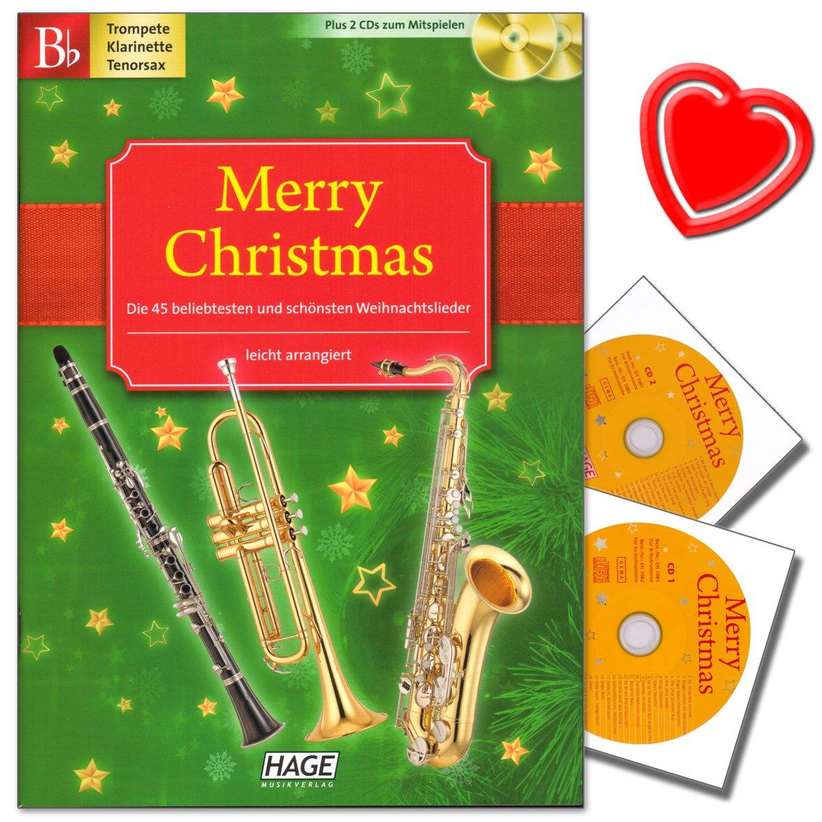 Merry Christmas, Ausgabe für B-Instrumente : Trompete, B-Klarinette ...