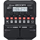 Zoom G1 FOUR Guitar Multi-Effects Processor Pedal, With 60+ Built-in effects, Amp Modeling, Looper, Rhythm Section, Tuner, Ba