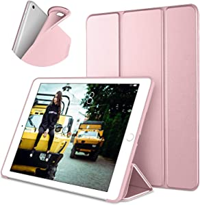 DTTO Case for iPad Mini 4,(Not Compatible with Mini 5th Generation 2019) Ultra Slim Lightweight Smart Case Trifold Stand with Flexible Soft TPU Back Cover for iPad mini4[Auto Sleep/Wake],Rose Gold