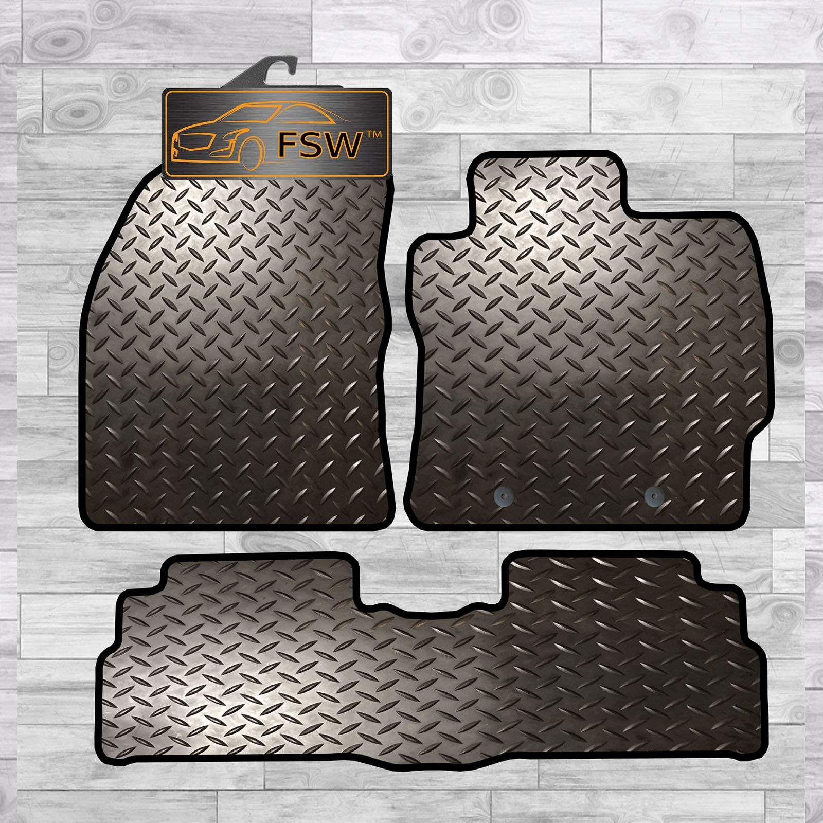 FSW Tailored 3MM Waterproof Rubber Heavy Duty Car Floor Mats