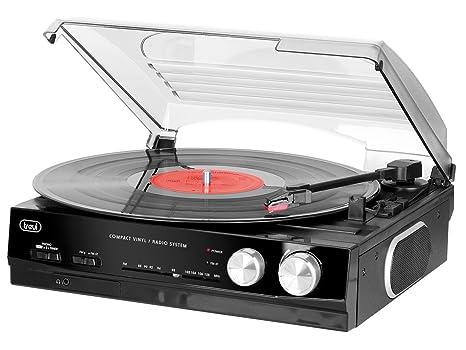 Trevi TT 1010 R Negro - Tocadiscos (Manual, Negro, 33,45 RPM ...