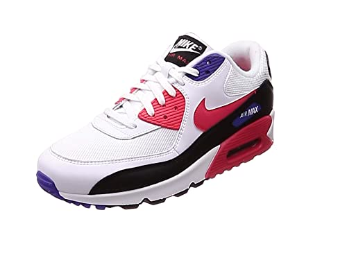 NIKE AIR MAX 90 ESSENTIAL WHITE BLACK RED MENS SPORT TRAINER VARIOUS UK SIZES