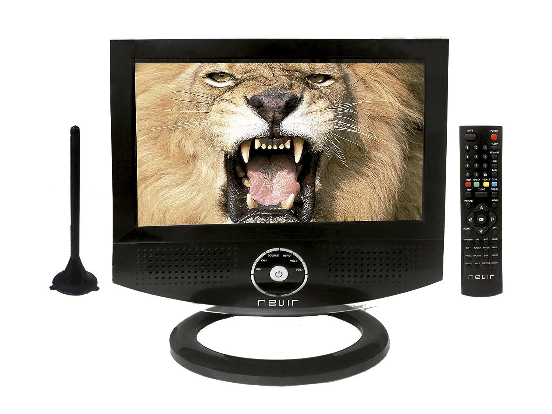 Nevir NVR7800 - Televisión LCD de 10 pulgadas, antena TDT, USB, lector tarjetas SD/MMC, euroconector, 12 V, color negro