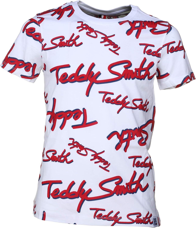 Teddy Smith Tee Shirt Gar/çon T All MC 61006196d 202 Blanc