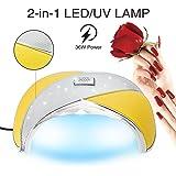 Cris Nails ® Lampara 36W LED Secador de Uñas para Manicura Gel Esmalte Permanente Semipermanente Material Piel y Acrílico con Temporizador