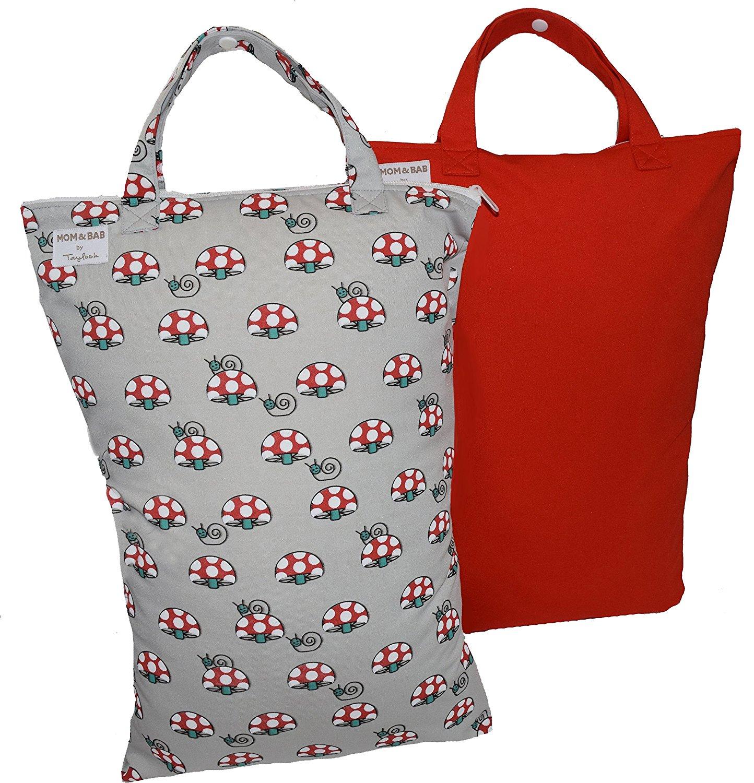 Best Rated In Baby Cloth Diaper Accessories Helpful Customer Mom N Bab Short Tee Pink Lace Hem 2 Odor Water Resistant Wet Storage Bags 125wide X 18