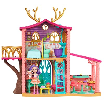 Enchantimals Cozy Deer House Playset + Danessa Deer Doll & Sprint Figure: Toys & Games