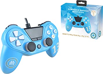 Mando para Playstation 4 – Playstation 3 – PC Pro4 Wired Controlador Compatible PS4 Slim – PS4 Pro – PC Olympique DE Marseille: Amazon.es: Electrónica