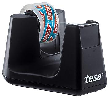 Tesa Easy Cut Smart - Dispensador de cinta adhesiva (1 rollo, 10 m x 15 mm), color negro: Amazon.es: Oficina y papelería