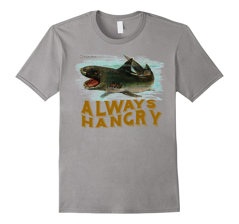 Always Hangry Funny Shark T-Shirt-Art