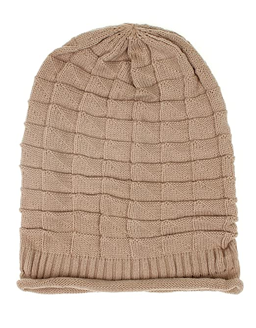 DISTRESSED - Ripped Ballonmütze Slouch Long Beanie (beige): Amazon ...