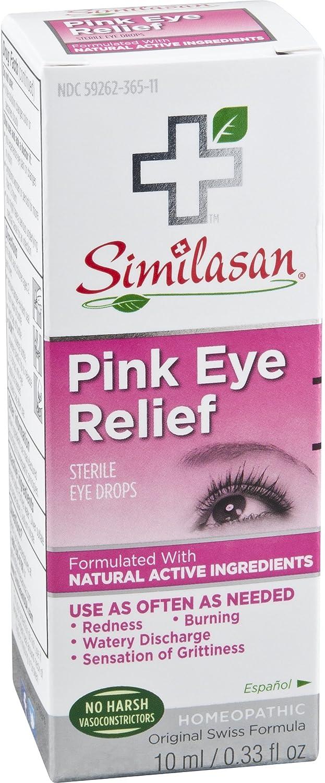 Similasan Pink / Irritated Eye Relief Eye Drops 0.33 oz (Packaging May Vary)