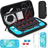 HEYSTOP Compatible with Nintendo Switch Lite Carrying Case, Mini Switch Lite Cover Case + Tempered Glass Screen Protector + G