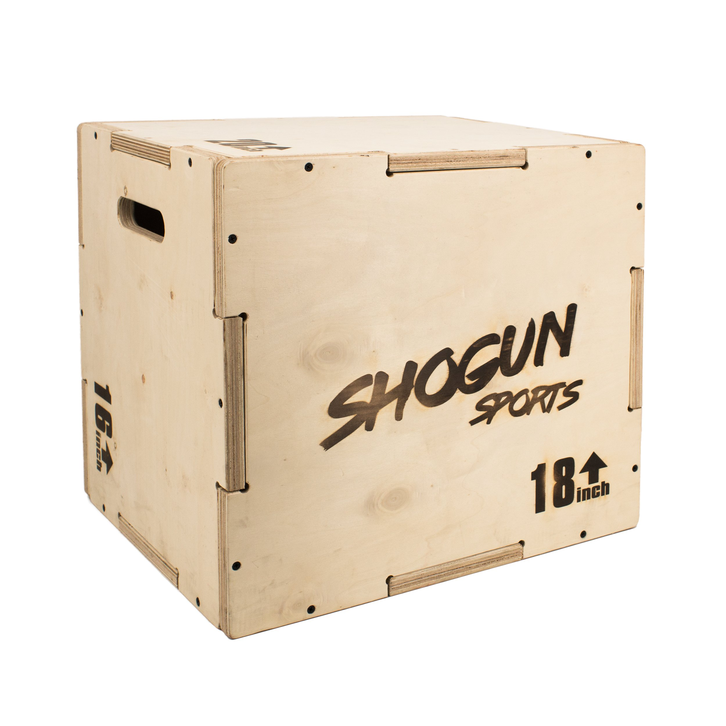 Shogun Sports 3 in 1 Wood Plyometric Box. Jump Box for Crossfit, MMA Conditioning and Strength Training. Available in 4 Sizes (30/24/20-24/20/16-20/18/16-16/14/12) (16/18/20)