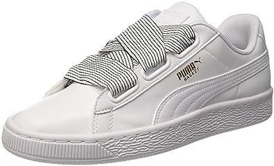 Puma Basket Heart Wn's, Sneakers Basses Femme, White White, 40 EU