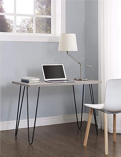 Ameriwood Home 9851296PCOM Altra Owen Retro Desk with Metal Legs Weathered Oak Renewed
