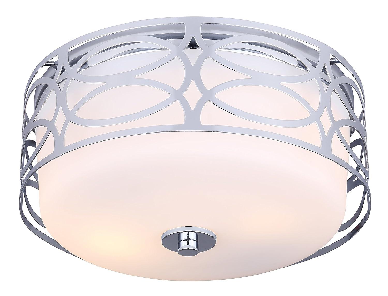 Canarmフラッシュマウント。。。。。。 Flat Opal Glass IFM173B12CH 1 B01A93TEHW Flat Opal Glass|クロム クロム Flat Opal Glass