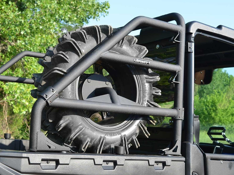 SuperATV Polaris Ranger 500//570 See Fitment EV//ETX Heavy Duty Spare Tire Carrier 900//1000 Wrinkle Black