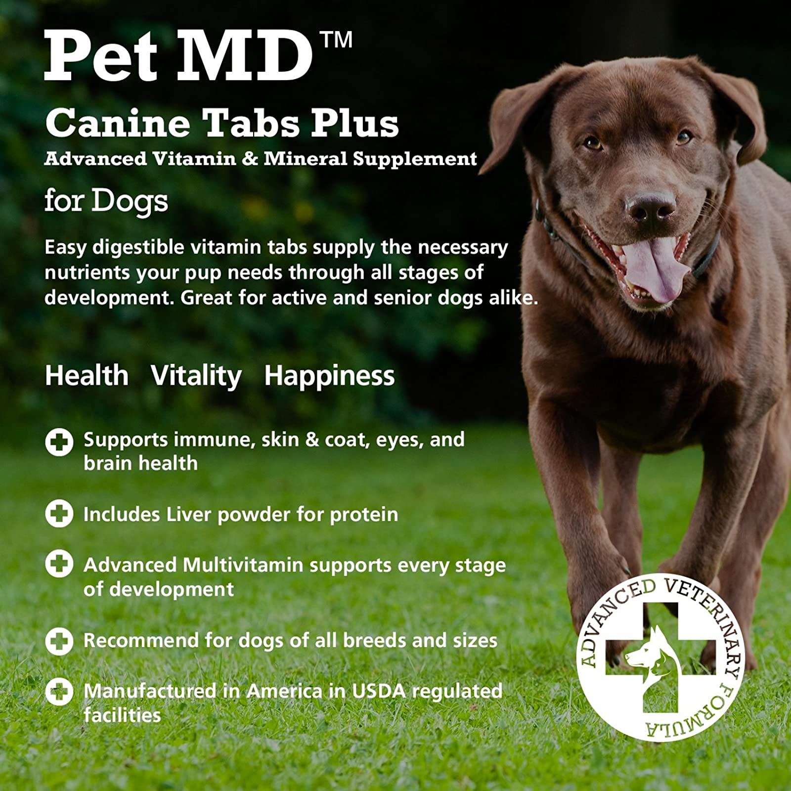 Pet MD - Canine Tabs Plus 365 Count - - 3