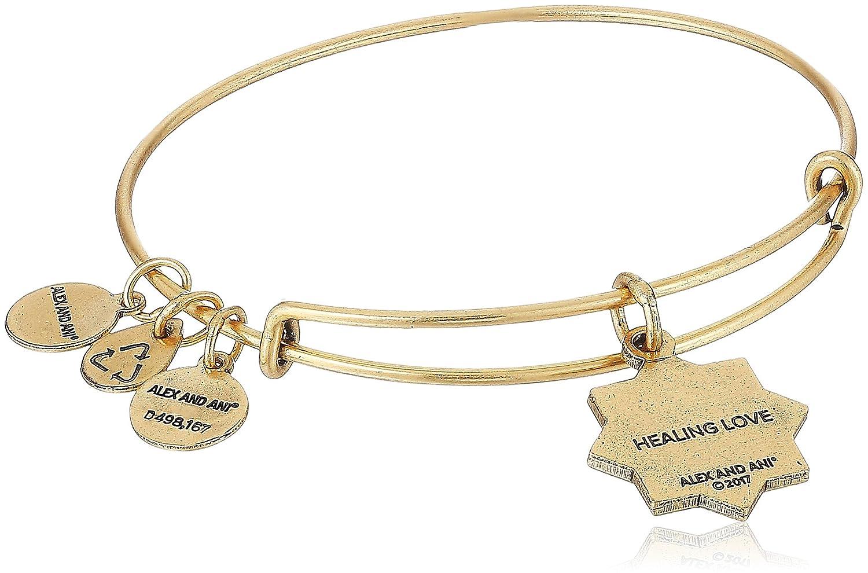 22f982e92 Amazon.com: Alex and Ani Healing Love II Bangle Bracelet, Rafaelian Silver,  Expandable: Jewelry