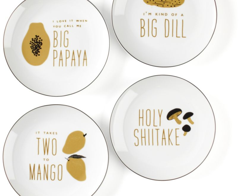 Food For Thought Plates - Set of 4 | Dinnerware | Tableware | Z Gallerie