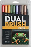 Tombow Secondary Dual Brush Pens, Pack of 10, Multi-Colour