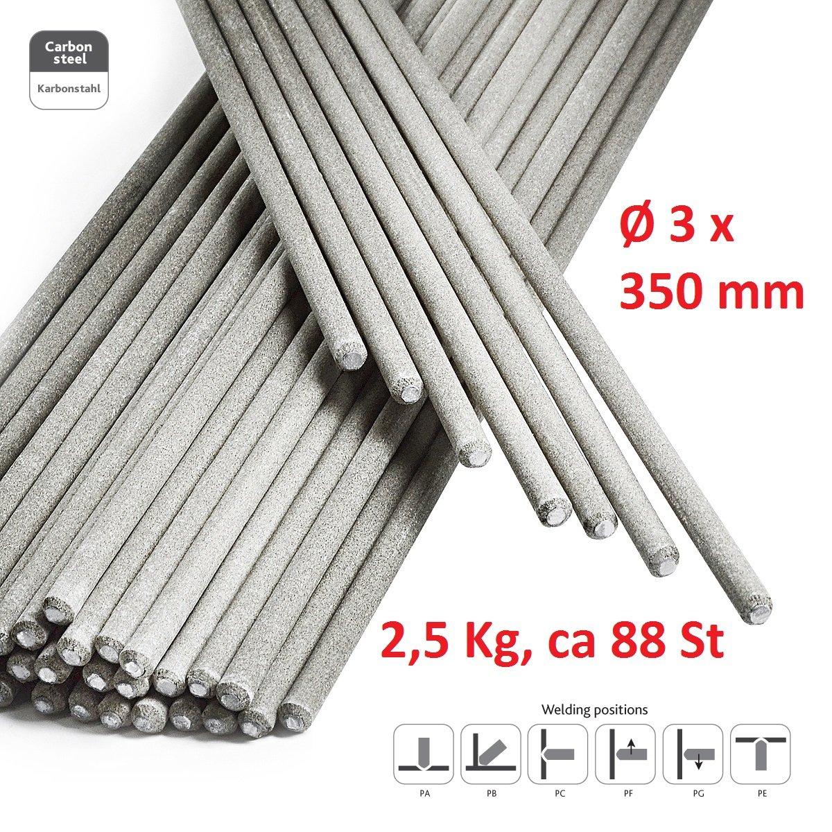 STARK Electrodos de Soldadura - Rutilo Acero Profesional 3 x 350 mm - ca. 88 Pzas 2,5Kg