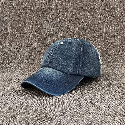 Kangqifen Men Women Bull Denim Baseball Cap Outdoor Casual Hats Visor