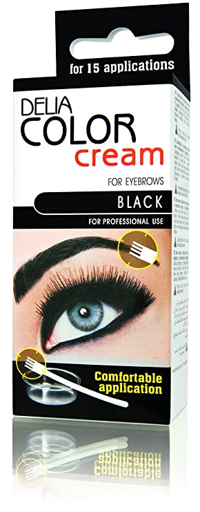 Delia Henna Color Cream Eyebrow Tint Kit Black Brown Dark