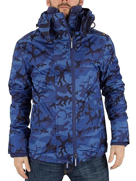 Superdry Hombre Artic Pop Zip Logo Cazadora Jacket, Azul, Small: Amazon.es: Ropa y accesorios