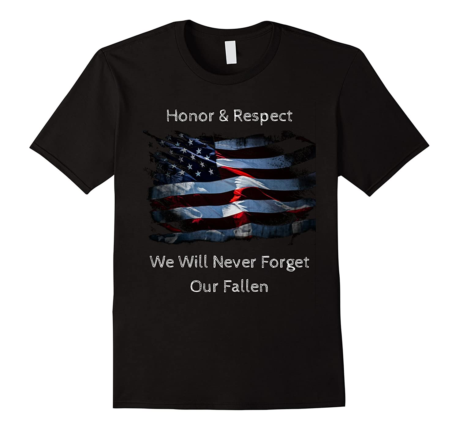 Memorial Day T-Shirt Honor and Respect our Fallen-CD