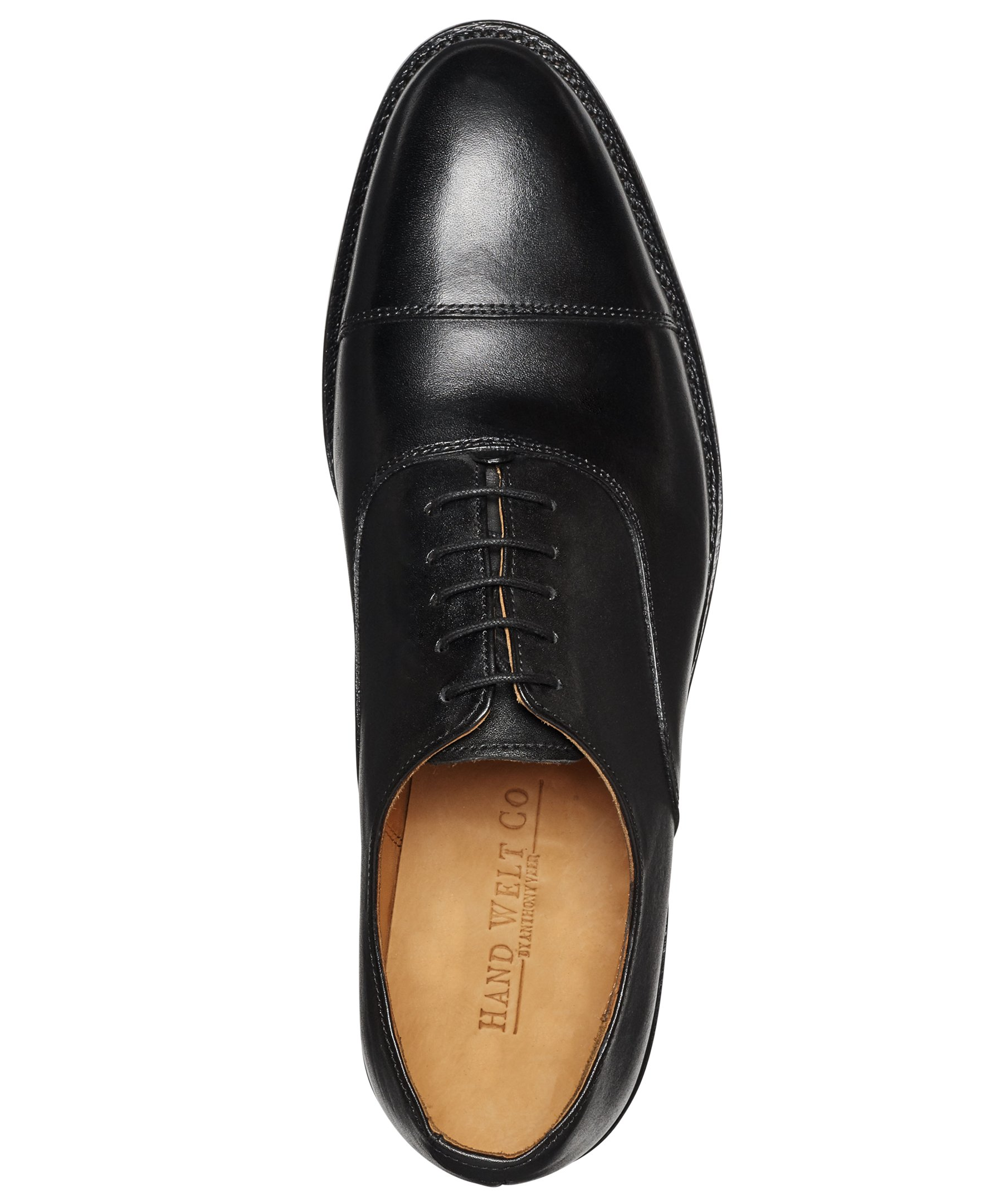 Anthony Veer Mens Clinton Cap-toe Oxford Leather Shoe in Goodyear Welted Construction (10.5 D, Black) by Anthony Veer (Image #4)