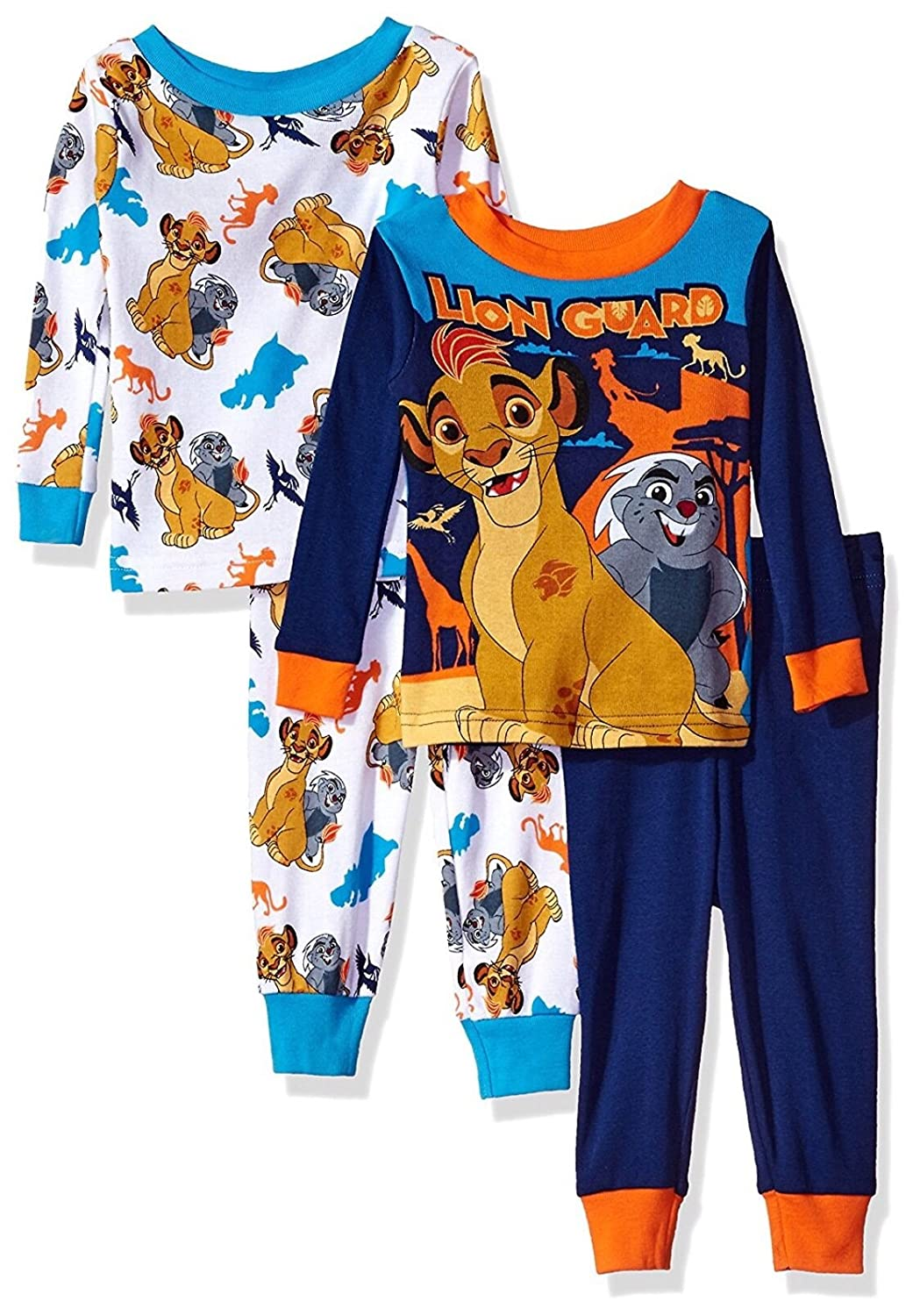 Disney Junior The Lion Guard 4 Piece Cotton Toddler Pajamas for boys (3T) LG018ELL3T