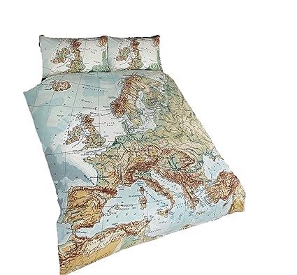 Vintage Map Atlas Duvet Cover Set Double