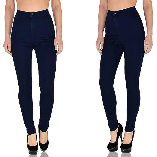 by-tex Jean femme skinny Jeans femmes taille haute pantalon femme slim  surdimensionner Z92: Amazon.fr: Vêtements et accessoires