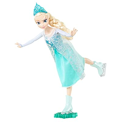 Disney Frozen Ice Skating Elsa Doll: Toys & Games