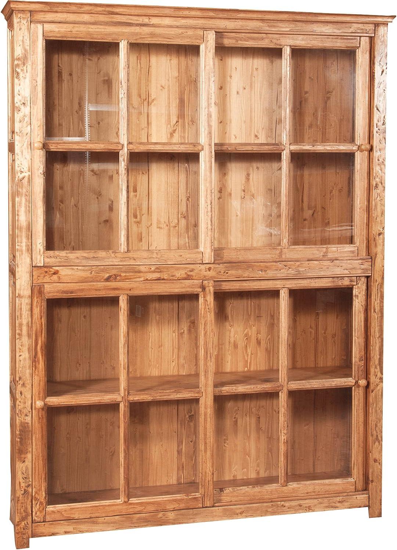 Biscottini librería vitrina con puertas correderas de madera ...