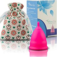 Athena Menstrual Cup - #1 Recommended Period Cup Includes Bonus Bag - Size 1, Solid Pink - Leak Free Guaranteed!