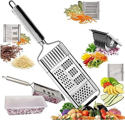 Chef Grater Affetta Verdure Taglia Grattugia Carote Zucchine Julienne Chips Amazon It Casa E Cucina