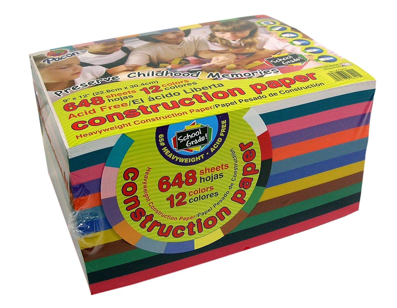 648 fogli di cartoncino, 228 x 305 mm, colori vivaci assortiti Creativity Papers